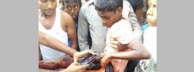 রোহিঙ্গা শিশুকে মিয়ানমারের সীমান্ত রক্ষী বাহিনীর গুলি