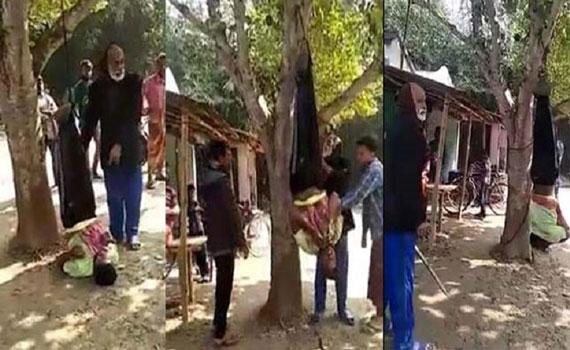 নির্বাচনী কার্যালয় থেকে টিভি চুরির অভিযোগ, গাছে ঝুলিয়ে নির্যাতন