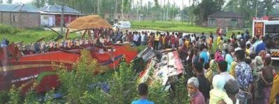 গাইবান্ধা জেলার গোবিন্দগঞ্জে সড়ক দুর্ঘটনায় ১৮ জন আহত।