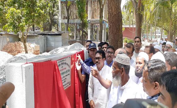 বদরগঞ্জ মডেল মসজিদ ও ইসলামিক সংস্কৃতিক কেন্দ্রের ভিত্তি প্রস্তর স্থাপন